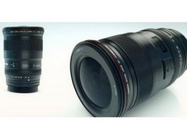 Canon Camera Lenses 3d preview