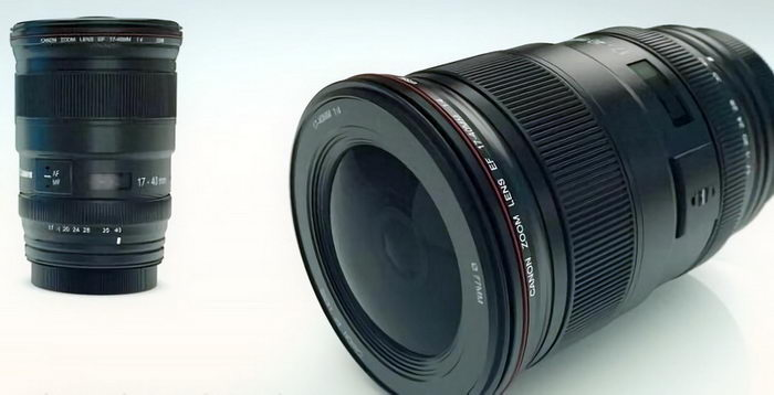 Canon Camera Lenses 3d rendering