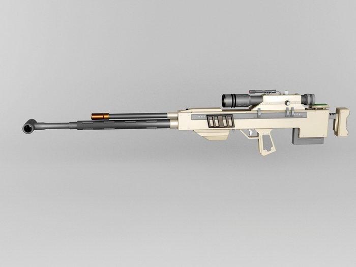 Ramjet Rifle 3d rendering