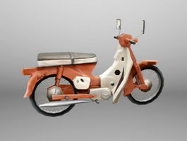 Antique Motorcycle 3d model