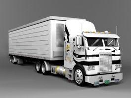 Freightliner Semi Truck 3d model