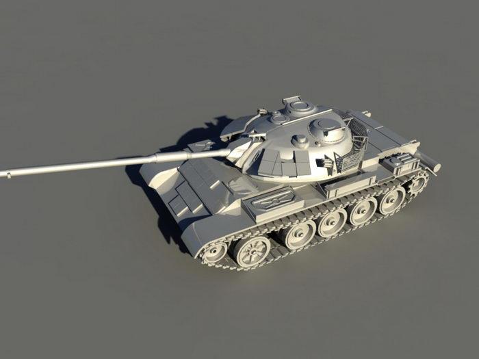 Type 59D Tank 3d rendering
