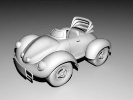 Cartoon Cconvertible Car 3d model