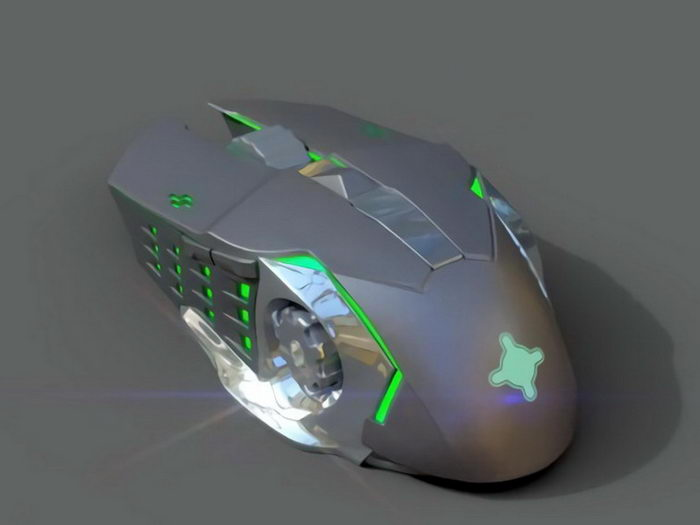 Cool Wireless Mouse 3d rendering
