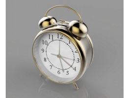 Antique Alarm Clock 3d model