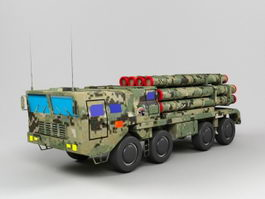 PHL-03 Multiple Rocket Launcher 3d model
