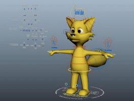 Cartoon Fox Rig 3d model