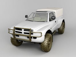 Army Dodge Ram Pickup 3d model
