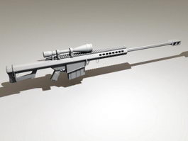 Barrett M82a1 Sniper System 3d model