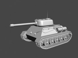 Small Army Tank 3d model
