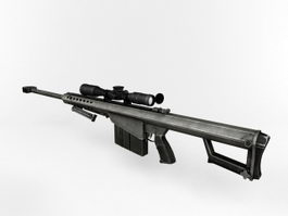 M82A1 Sniper Rifle 3d model