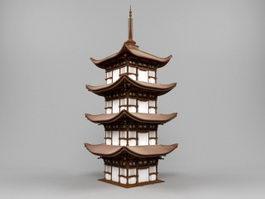 Japan Pagoda 3d model