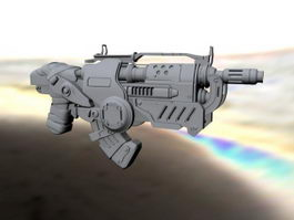 Gears of War Gun 3d model