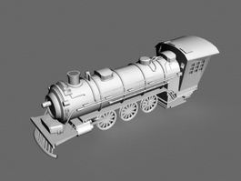 Steam Train Engineer 3d model