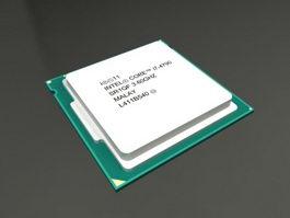 Intel Core i7 CPU 3d model