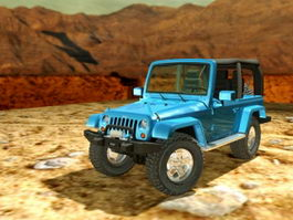 Jeep Wrangler Convertible 3d model