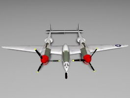 WW2 P-38 Lightning 3d preview