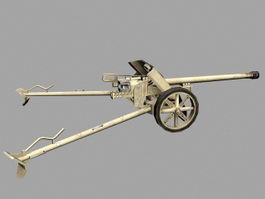 Pak 38 German Anti-tank Gun 3d model