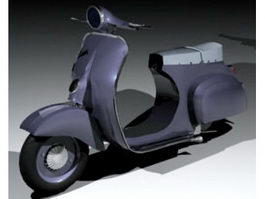 Classic Vespa Scooter 3d preview