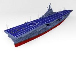 USS Essex CV-9 Aircraft Carrier 3d model