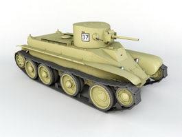 WW2 Tank 3d model