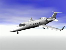 Learjet 45 Business Jet Aircraft 3d preview