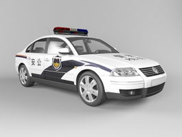 China Police Car 3d preview