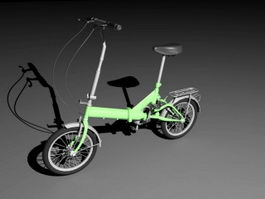 Small Wheel City Bike 3d model