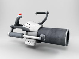 Futuristic Mortar Weapon 3d model