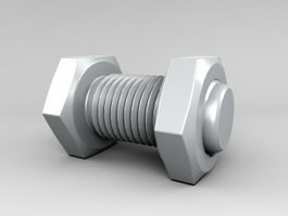 Nut and Bolt 3d model