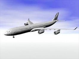 Airbus A340 Jet Airliner 3d preview