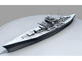 KMS Bismarck Battleship 3d preview