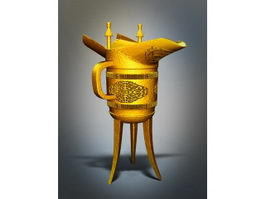 Ancient Chinese Wine Cup 3d preview