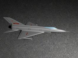 Chengdu J-9 Chinese Interceptor Aircraft 3d preview