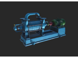 Industrial Vacuum Pump 3d preview