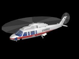 Sikorsky S-76 helicopter 3d model