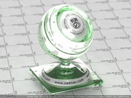 Torus glass vray material
