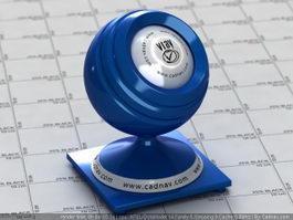 Carpaint Matte Blue vray material