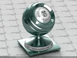 Green Pearl Auto Paint vray material