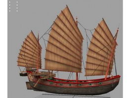 Chinese Junk Ship 3d preview