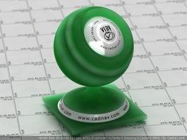 Dark Green Matte Plastic SSS vray material