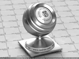 Silver Auto Paint vray material