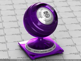 Vibrant Violet Pearl Clearcoat Car Paint vray material