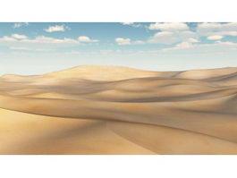 Desert Scene 3d model
