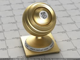Brushed Gold vray material