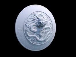 Cool Dragon Shield 3d preview