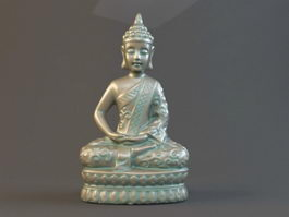 Bronze Thai Buddha Statue 3d preview