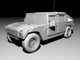 Humvee Military Vehicle 3d preview