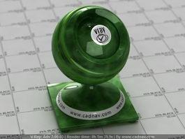 Green Jade Gemstone vray material