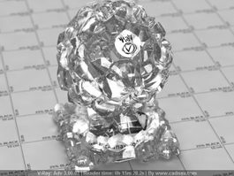 Quartz Crystal Cluster vray material